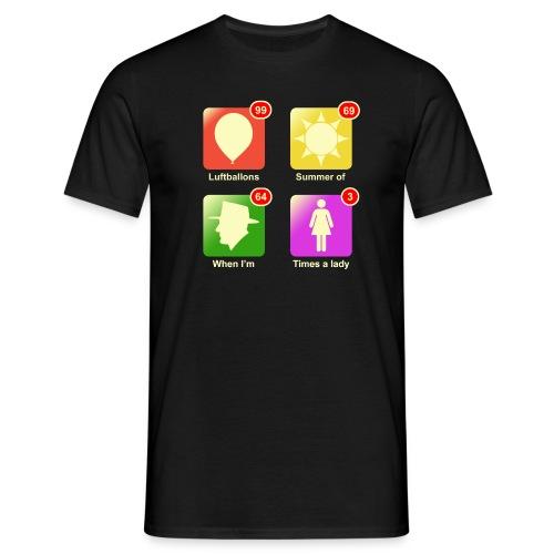 Music apps - Mannen T-shirt