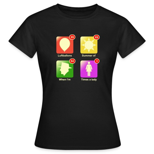 Music apps - Vrouwen T-shirt