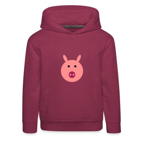 Schweinchen Oink Kappu - Kinder Premium Hoodie