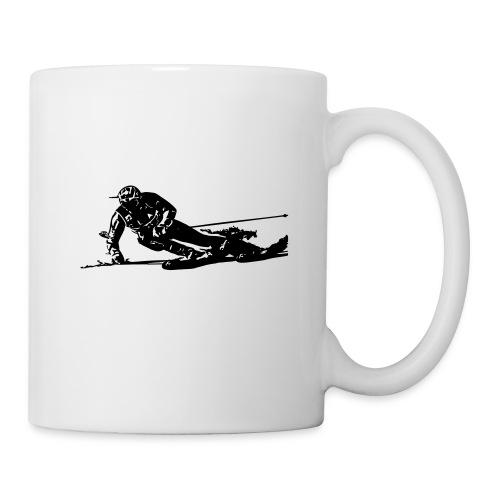 Skieur de descente - Mug blanc