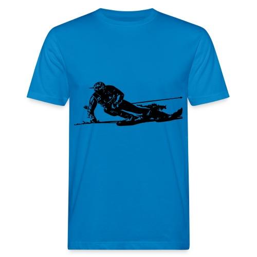 Skieur de descente - T-shirt bio Homme