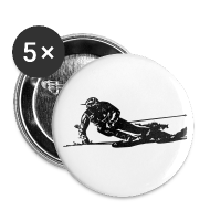 Badges ~ Badge grand 56 mm ~ Skieur de descente