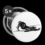 Badges ~ Badge moyen 32 mm ~ Skieur de descente