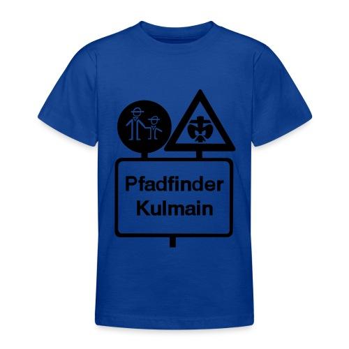 Teenager T-Shirt Stammeslogo vorne Scharz - Teenager T-Shirt
