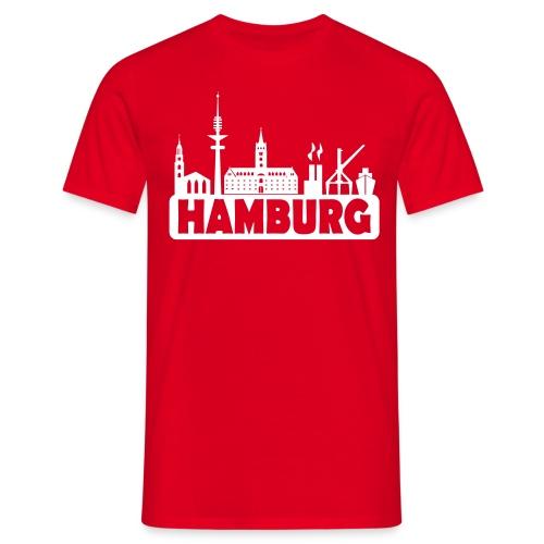 Skyline Hamburg - Männer T-Shirt - Männer T-Shirt