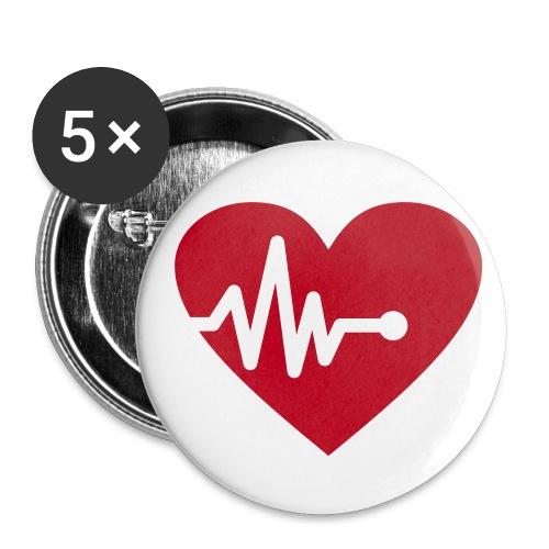 Heartbeat button - Middels pin 32 mm (5-er pakke)