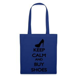 Tote bag Keep Calm And Buy Shoes - Tote Bag