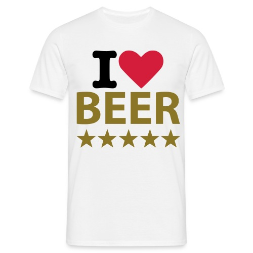 I Heart Beer - Men's T-Shirt