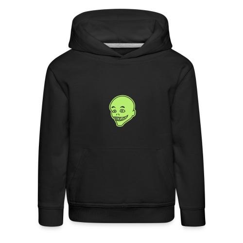 Vintage Retro Comic Zombie Halloween Skull Punk - Kinder Premium Hoodie