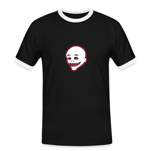 Vintage Retro Comic Zombie Halloween Skull Punk - Männer Kontrast-T-Shirt