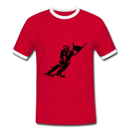 Skieur de descente - T-shirt contrasté Homme