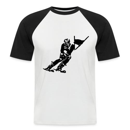 Skieur de descente - T-shirt baseball manches courtes Homme