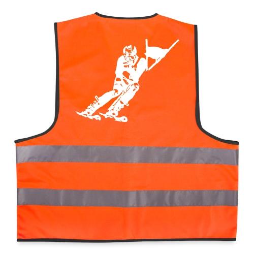 Skieur de descente - Gilet de sécurité