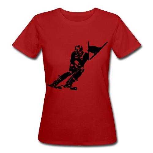Skieur de descente - T-shirt bio Femme