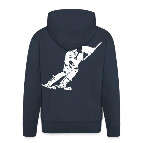 Skieur de descente - Veste à capuche Premium Homme