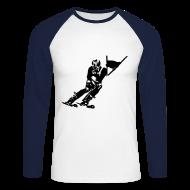 Manches longues ~ Tee shirt baseball manches longues Homme ~ Skieur de descente