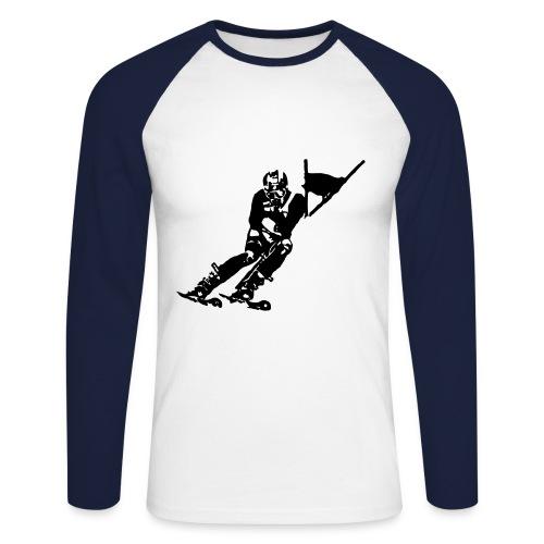 Skieur de descente - T-shirt baseball manches longues Homme