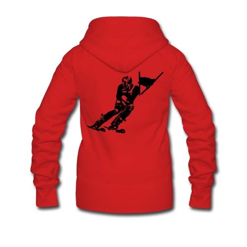Skieur de descente - Veste à capuche Premium Femme