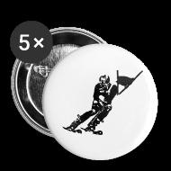 Badges ~ Badge petit 25 mm ~ Skieur de descente