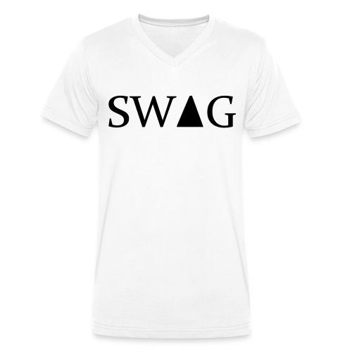 T-shirt - Økologisk T-skjorte med V-hals for menn fra Stanley & Stella