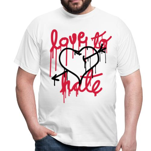 Love to Hate - Men's T-Shirt