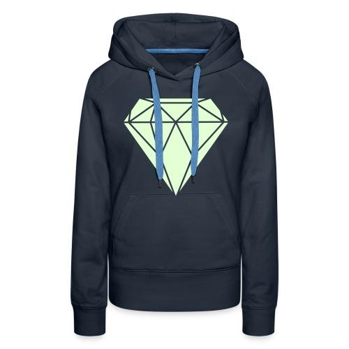 DIAMOND GLOW IN THE DARK sweater girls - Vrouwen Premium hoodie