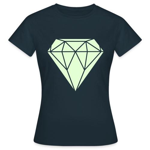 DIAMOND GLOW IN THE DARK shirt girls - Vrouwen T-shirt