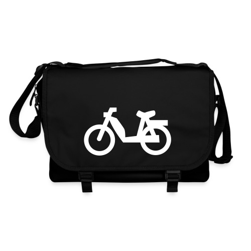 Stylische Mofafahrer Tasche mit Mofa Motiv - Umhängetasche