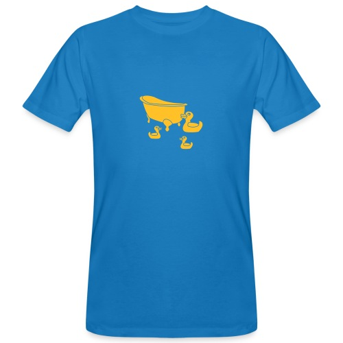 Vintage Retro Comic Swimming Pool Ducks Holiday - Männer Bio-T-Shirt