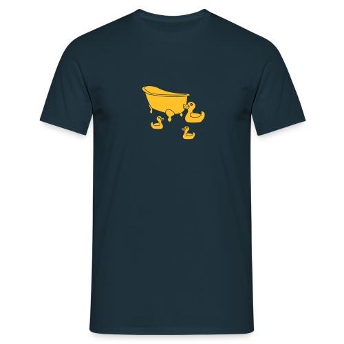Vintage Retro Comic Swimming Pool Ducks Holiday - Männer T-Shirt