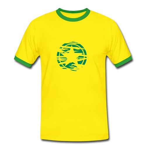 Green Star - Männer Kontrast-T-Shirt