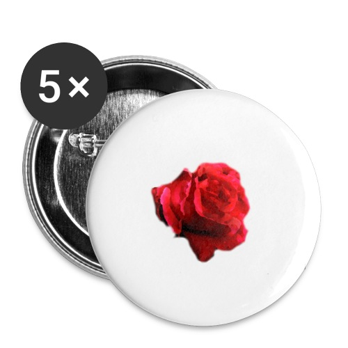 Painted rose Badges - Buttons small 1''/25 mm (5-pack)