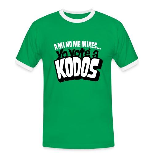 Los Simpson: Yo voté a Kodos - Camiseta contraste hombre