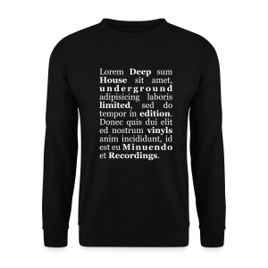 Lorem Deep sum House. white letters.sweatshirts without hood - Men's Sweatshirt