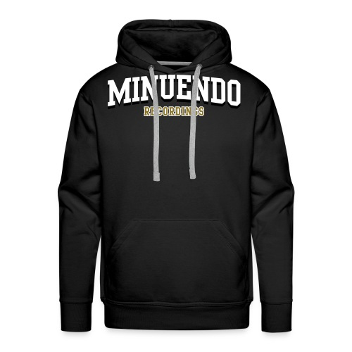 Men's Premium Hoodie - Recordings,Minuendo