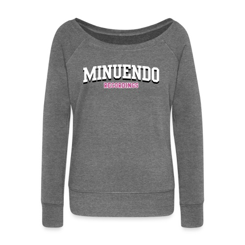 Minuendo Old School Woman. sweatshirts without hood  - Women's Boat Neck Long Sleeve Top
