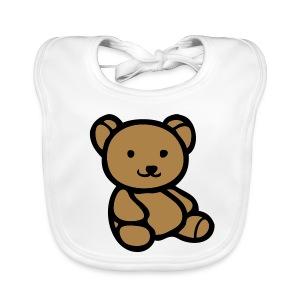 teddy bear bib - Baby Organic Bib
