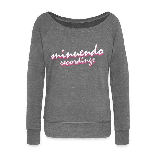 Minuendo 80's. woman. sweatshirts without hood - Women's Boat Neck Long Sleeve Top