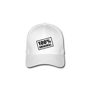 100% ORIGINAL HAT ( WHITE ) - Flexfit Baseball Cap