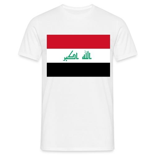 IRAQI FLAG MENS SHIRT - Mannen T-shirt