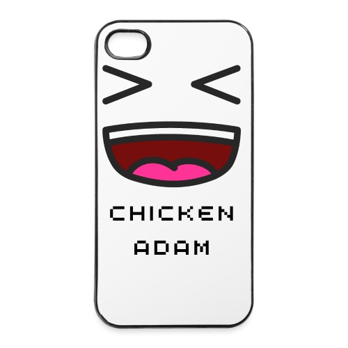 White chickenadam Iphone 4 and 4s case - iPhone 4/4s Hard Case
