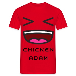 Men's chickenadam red t-shirt - Men's T-Shirt