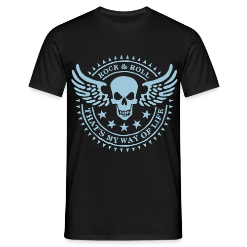 Rock n´Roll Black  - Männer T-Shirt