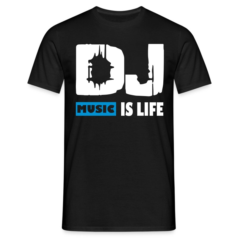 DJ Music is life - Blue - Classic Shirt by B&C - Men's T-Shirt