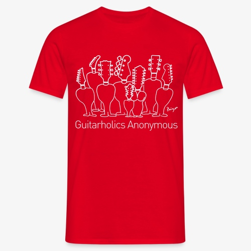Anonyme Guitarholiker - Pingo - T-Shirt rot - Männer T-Shirt