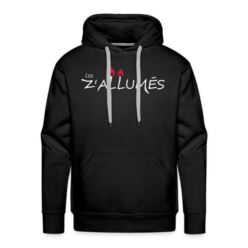 Sweat-shirt à capuche Premium pour hommes - Sweat-shirt noir à capuche Premium pour hommes Logo imprimé devant.  2017 - Les Z'allumés de Rodemack Compagnie Théâtrale