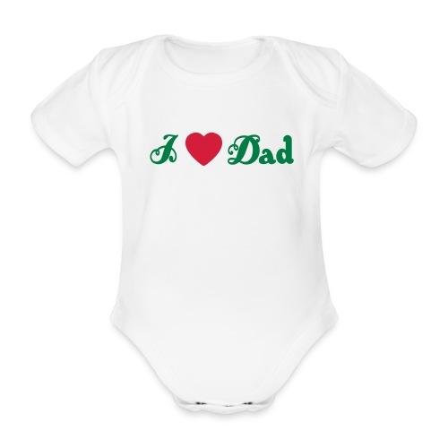 vaderdag romper  - Baby bio-rompertje met korte mouwen
