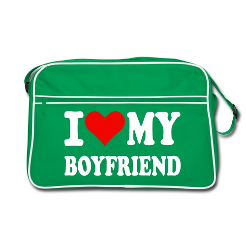 I love my Boyfriend - Retro Tasche