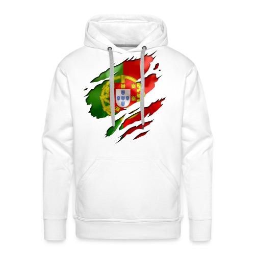 SI TU SAIS D'OU TU VIENS, TU SAIS SE QUE TU VAUX - PORTUGAL - Sweat-shirt à capuche Premium pour hommes