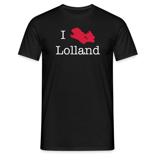I love Lolland -sort T-shirt - Herre-T-shirt